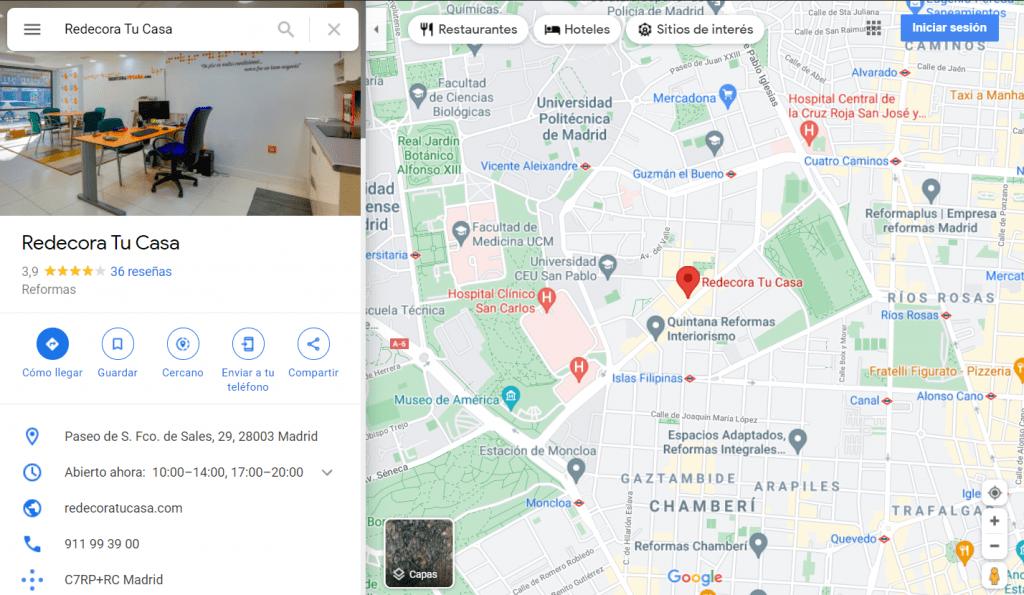 seo local ficha google my business