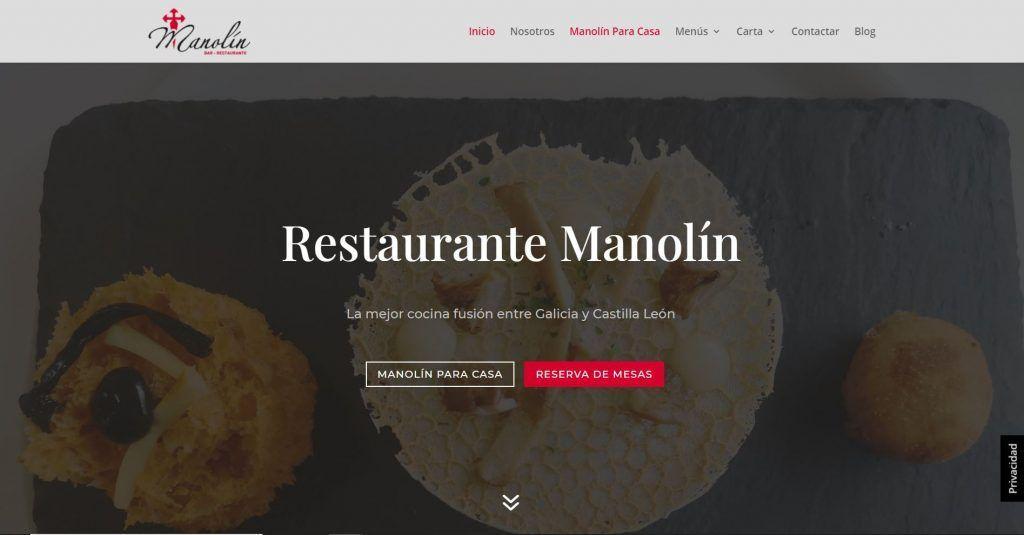 diseño web restaurante manolin